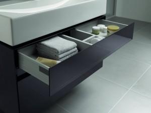 szuflady to idealne rozwiązania do małych łazienek