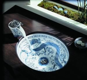 umywalka w chińskie wzory
