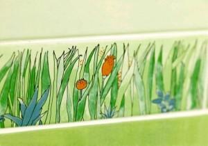 Dekor z motywem łąki