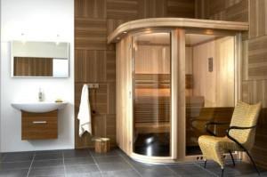 Sauna w pokoju kąpielowym