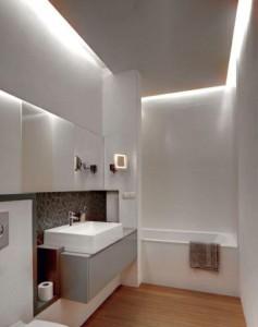 Podświetlenie łazienki diodami LED