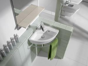 narożna umywalka