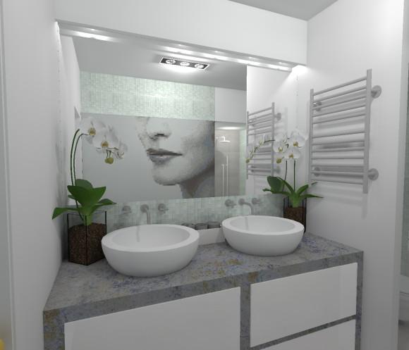 Przytulna łazienka bez okien