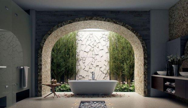łazienka w stylu tropikalnym