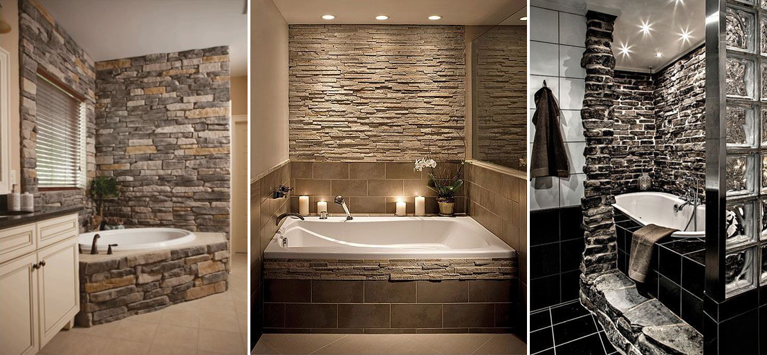 Kamień naturalny w łazience na kilka sposobów