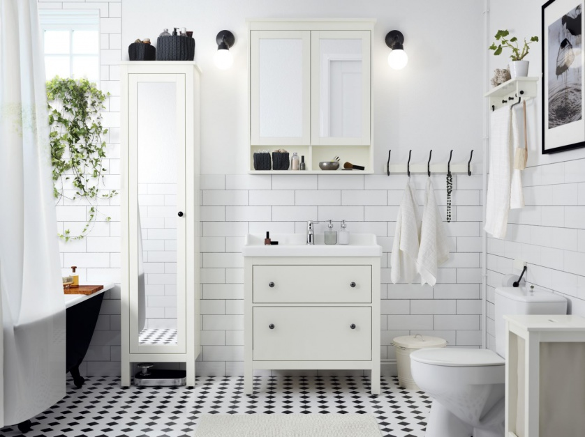 Wybieramy meble do łazienki w stylu skandynawskim