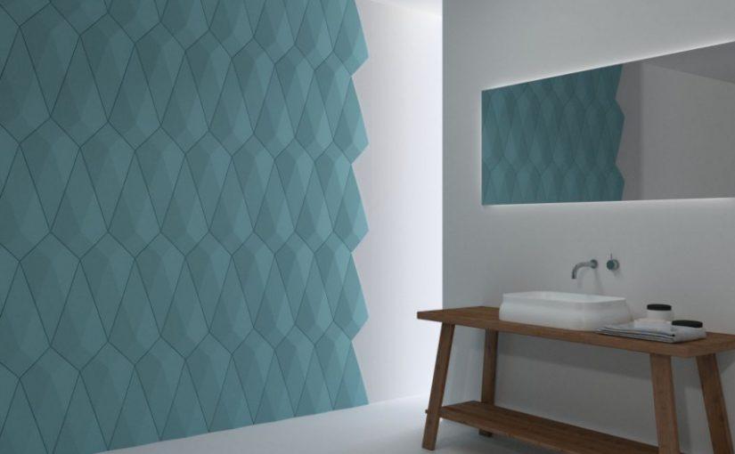 Trójwymiarowa ściana w łazience – oryginalnie i nowocześnie