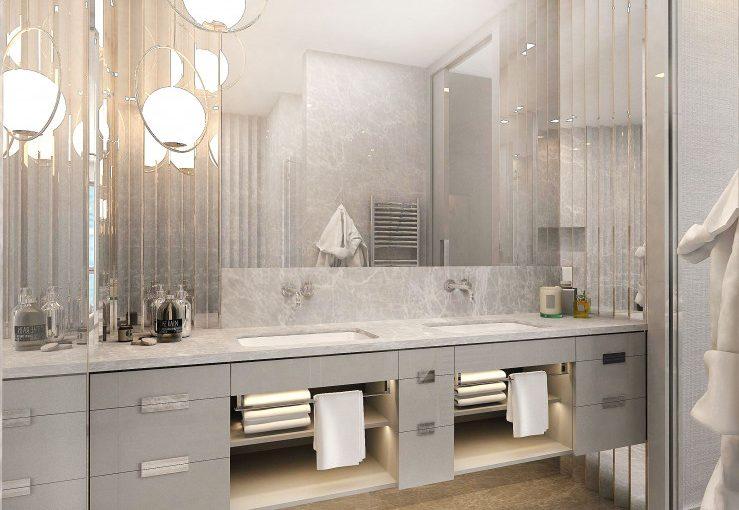 Szara łazienka Elegancka I Minimalistyczna Porady I