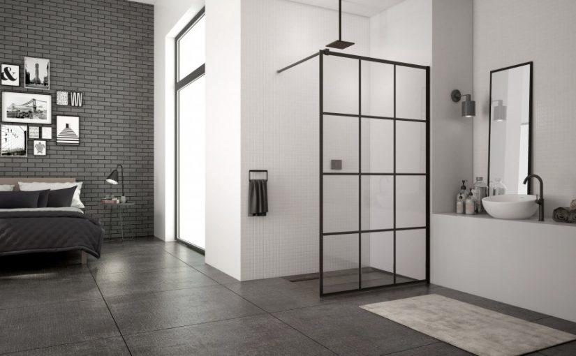 Nowoczesny prysznic w stylu loft