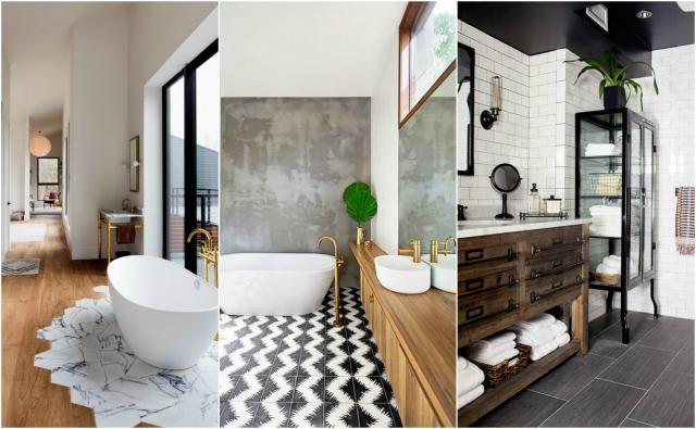 Drewniane elementy dekoracyjne w łazience